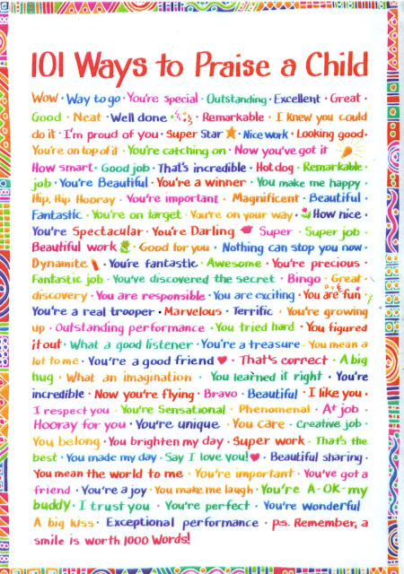 101 Ways To Praise A Child Poster